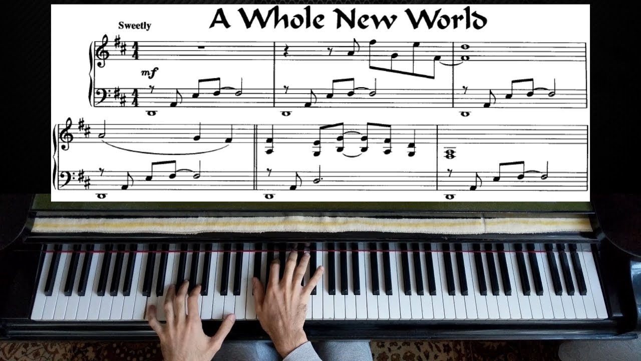 A whole new world piano sheet music easy