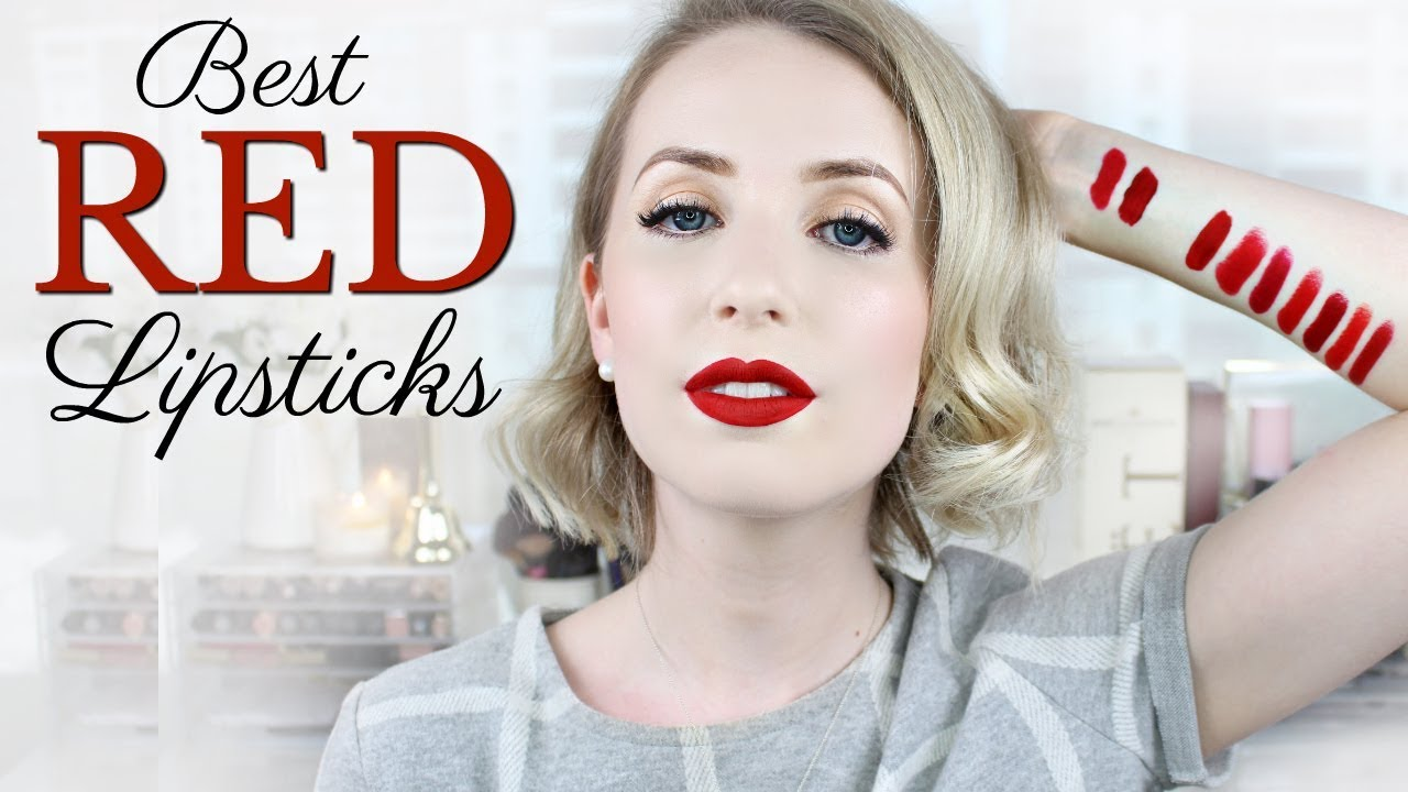 Nude red lips pale face